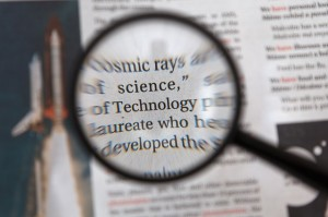 Magnifying glass and text [image from Pixabay.com]